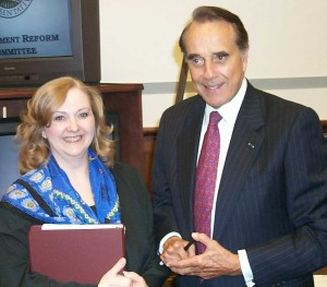 Beth Clay with Bob Dole